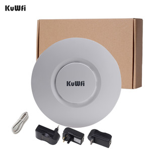 Image 5 - KuWfi Indoor Wireless Router 300M Wireless Ceiling AP Router WiFi Access Point AP With 48V POE Wi fi Signal Amplifier