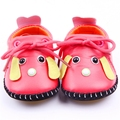 Fashion Spring Autumn Baby Girls Casual Leather Shoe Flat Heels Cartoon Dog Character Single Shoes Toddler Shoes First Walkers