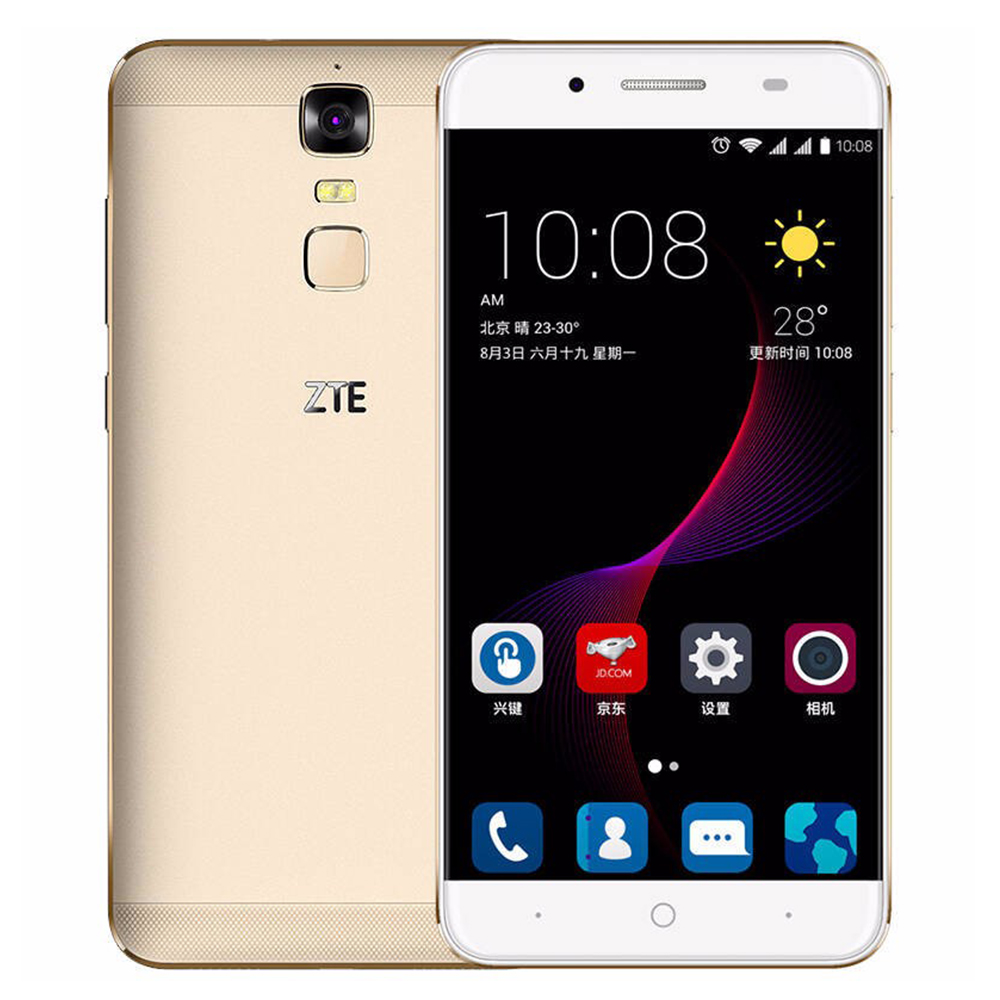 "Original ZTE Blade A2 Plus Mobile Phone Dual SIM 5000Mah 5.5""FHD Octa Core FingerPrint 4G RAM 32GB ROM Android 6.0 Metal Body"