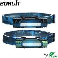 BORUiT 6 светодио дный 500LM налобный фонарь 3-Mode USB перезаряжаемая фара power Bank фонарик рыболовный фронтальный фонарь охотничий Головной фонарь