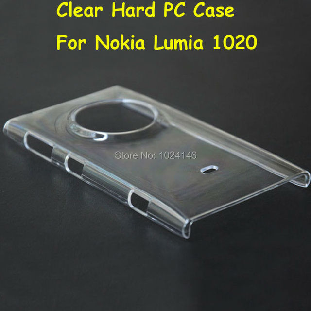 cheap for discount 59882 d3283 US $1.59 |For Nokia Lumia 1020 4.5 Inch New Slim Crystal Transparent Hard  PC Back Case DIY Cover Protection Skin Shell -in Half-wrapped Case from ...