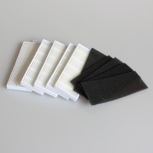 5pcs/lot  Sponge & 5pcs Hepa Filter for Replacement chuwi ilife A4 Robot Vacuum Cleaner Free Post