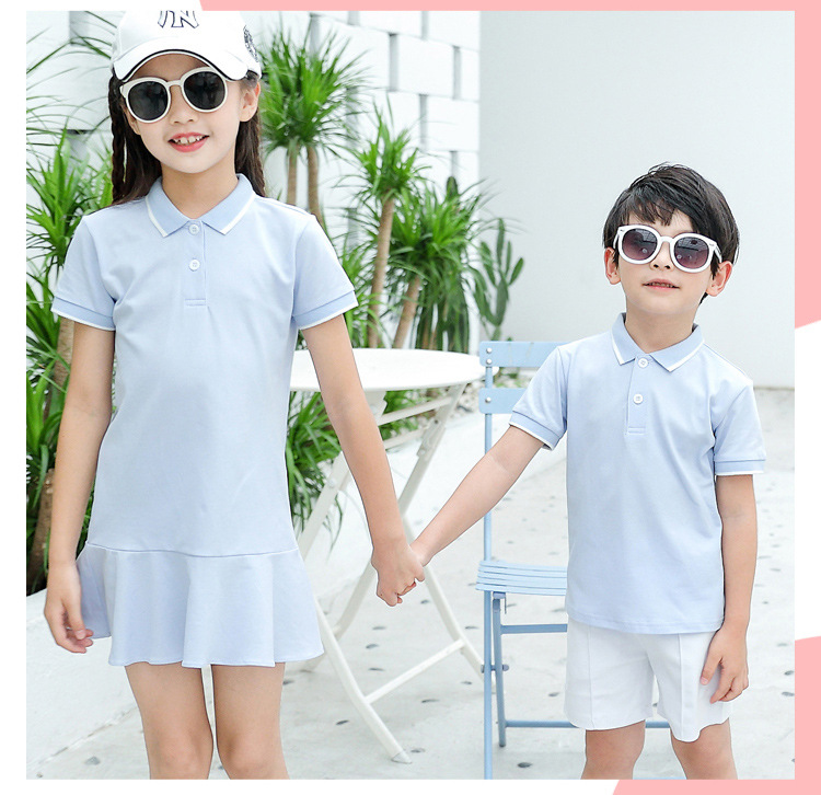 HTB1PRW5Xxn1gK0jSZKPq6xvUXXaS - family matching outfits summer Polo shirt mother daughter matching dresses dad son turn down collar family couple clothes