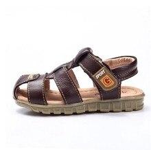 Vache de coupe garçon sandales 2015 nouveau bébé garçons sandales en cuir été des enfants chaussures garçons vache de coupe garçon sandales
