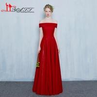 Cheap Elegant Burgundy Wine Red Long Simple Elegant Evening Prom Dress 2017 Vestidos De Formatura