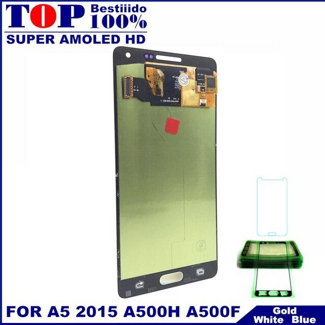 Reemplazo de Super AMOLED LCDs para Samsung Galaxy A5 2015 A500 A500F A500FU A500H A500M teléfono pantalla LCD digitalizador de pantalla táctil