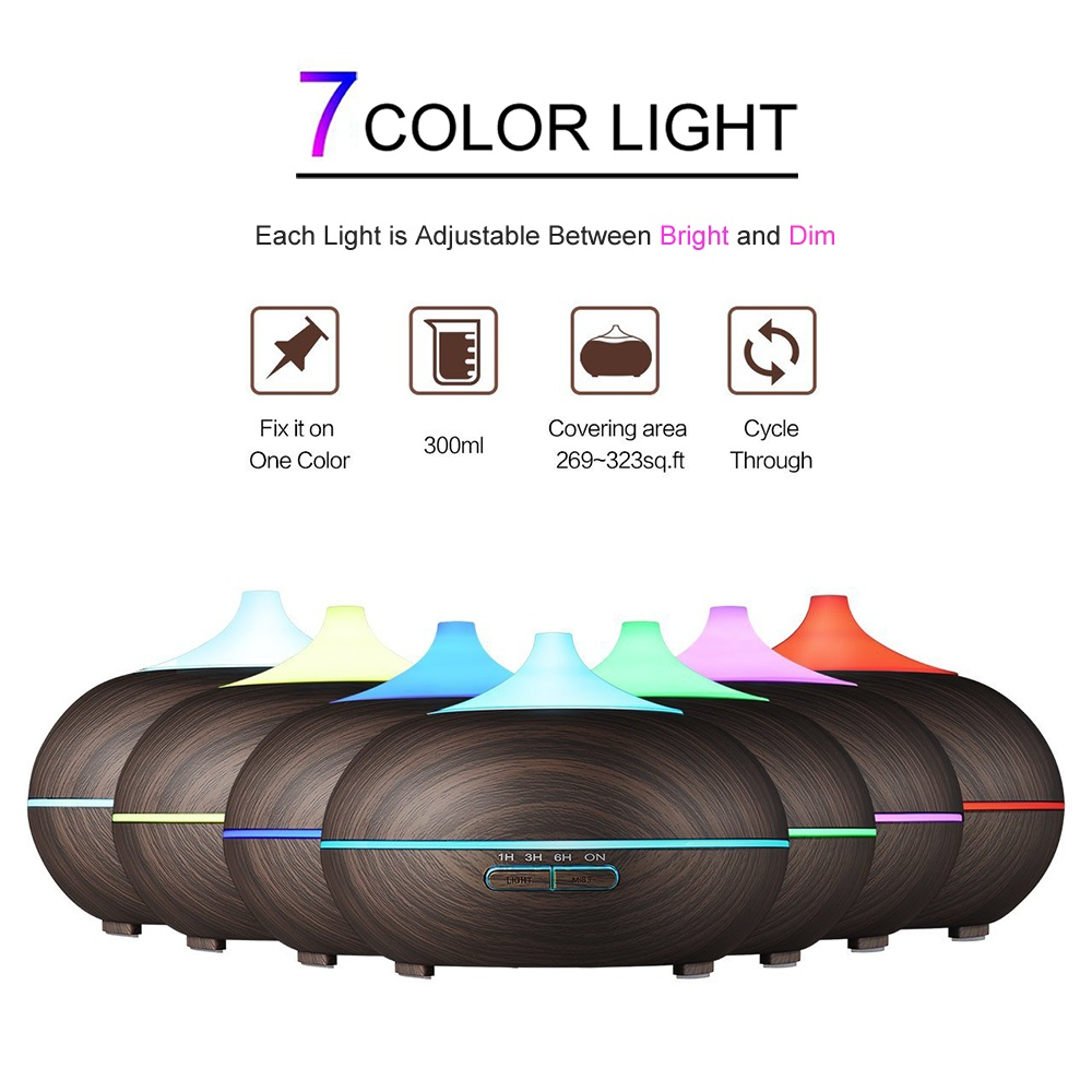 Image 2 - Diffuserlove Cool Mist Humidifier 300ml Wood Grain Usb Ultrasonic Aroma Essential Oil Diffuser for Office Bedroom Living Room-in Humidifiers from Home Appliances