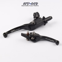 Free Shipping Black Aluminum ASV Clutch And Brake Folding Lever Fit Most Of Motorcycle Dirt Pit