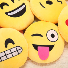 2017  Hot Cute Emoji Pillows QQ Soft Smiley Emotion Cushion Funny Stuffed Bolster Cushions