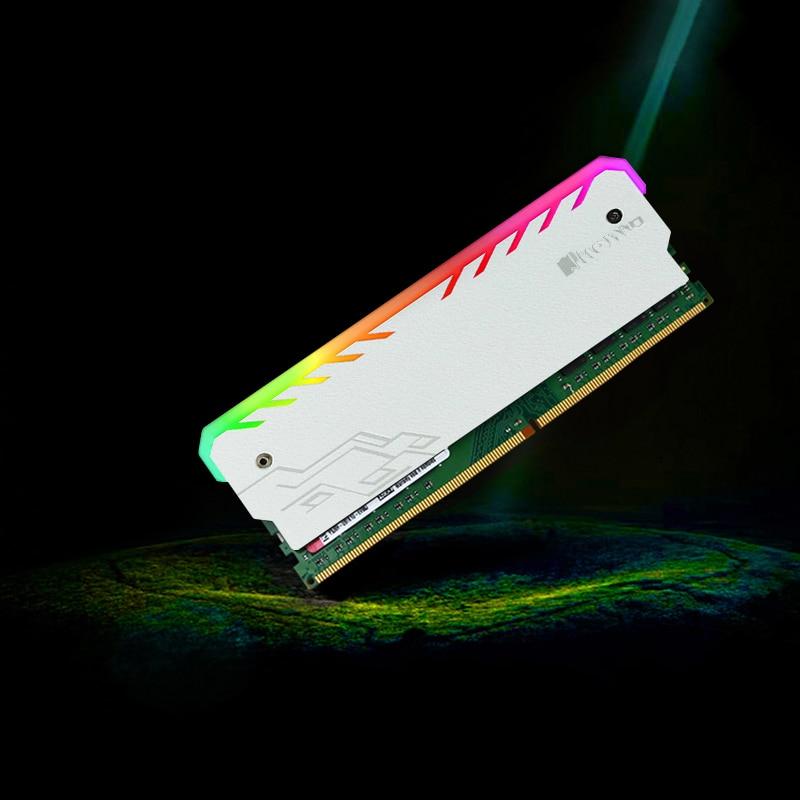 New For JON RGB LED RAMs Shell Glowing Vest General Common Light Bar DDR/DDR2/DDR3/DDR4 Memory Heatsink Computer Connectors 2 x b ddr ddr2 ram memory cooler heat spreader heatsink z09 drop ship