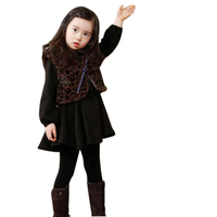 2016 Winter Girls Dress Thicken Girls Warm Cotton Dress Kids Cute Style Comfortable Material With Big