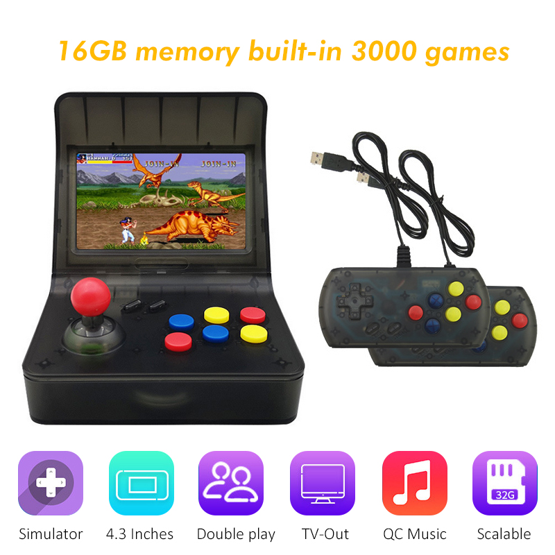 Usb Game Player Retro Mini Handheld Game Console 4.3 Inch 64bit 3000 Video Games Cassical Family Game Console de jeu Gift RETROUsb Game Player Retro Mini Handheld Game Console 4.3 Inch 64bit 3000 Video Games Cassical Family Game Console de jeu Gift RETRO