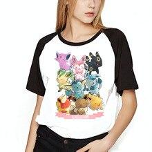 Женская футболка с принтом Покемон Эволюция Иви, бейсбольная Футболка для девочек