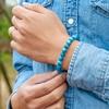 Bracelet Homme Perle Bleu