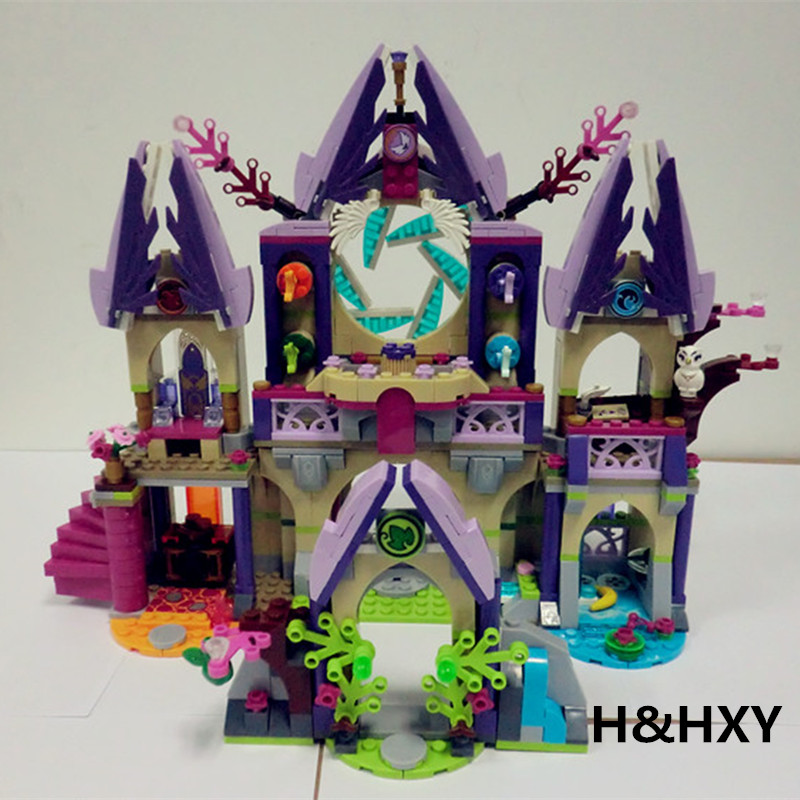IN STOCK  H&HXY 10415 809 Pcs Compatible  Elves 41078 Skyra's Mysterious Sky Castle Model Building Kit mini Blocks Brick aiboully 10415 elves azari aira naida emily jones sky castle fortress mini building block kids bricks toys 41078