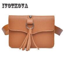 IVOTKOVA 2 capa de la cintura de las mujeres paquetes de Fanny bolsas de  cuero de la Pu cinturón bolsa 5 colores negro Rosa marr. edf8fe48f1d7