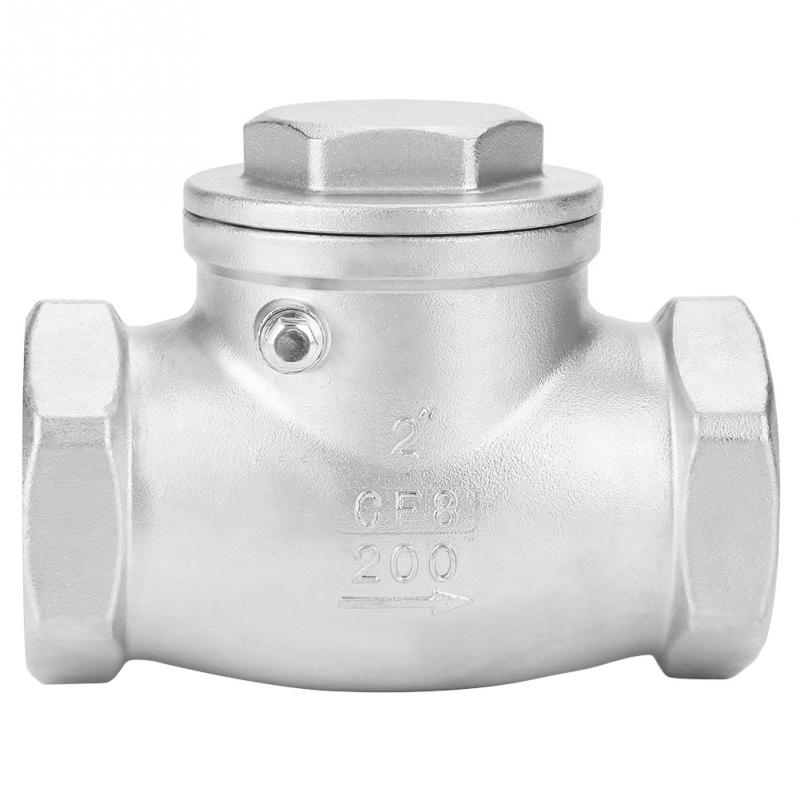 Stainless Steel 1 Way Swing Check Valve Female Thread