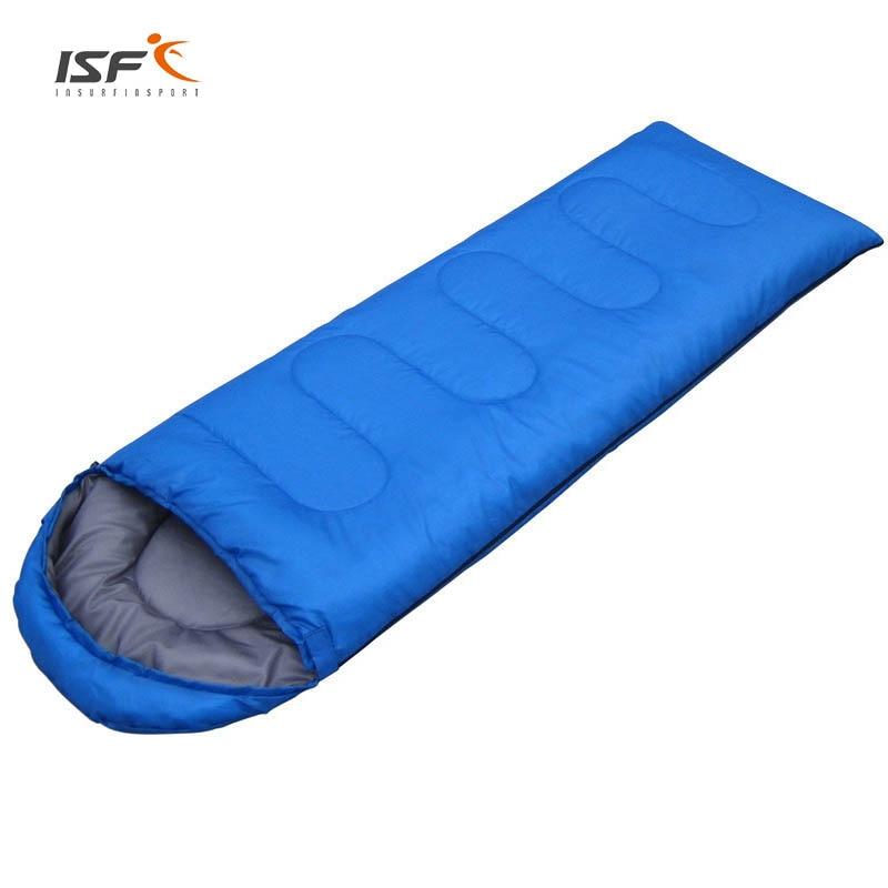 ISF 0.95KG (180+30)*75cm Outdoor Waterproof Travel Envelope 4 season Camping Warm Adult Cotton Sleeping Bag