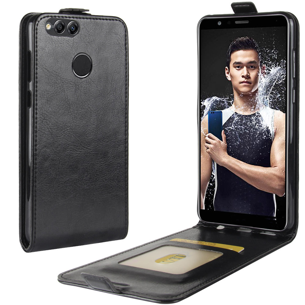 Vertical Flip Leather Cover For Huawei Honor Y9 Y7 Y6 Y5 Prime 2019 Wallet Case For Honor Y9 Y7 Y6 Y5 Pro 2018 Back Shell etui in Flip Cases from Cellphones Telecommunications