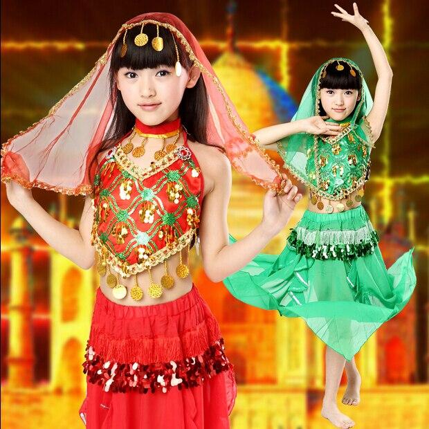Child Kid Oriental Dancing Vestido Indiano Sari Indian