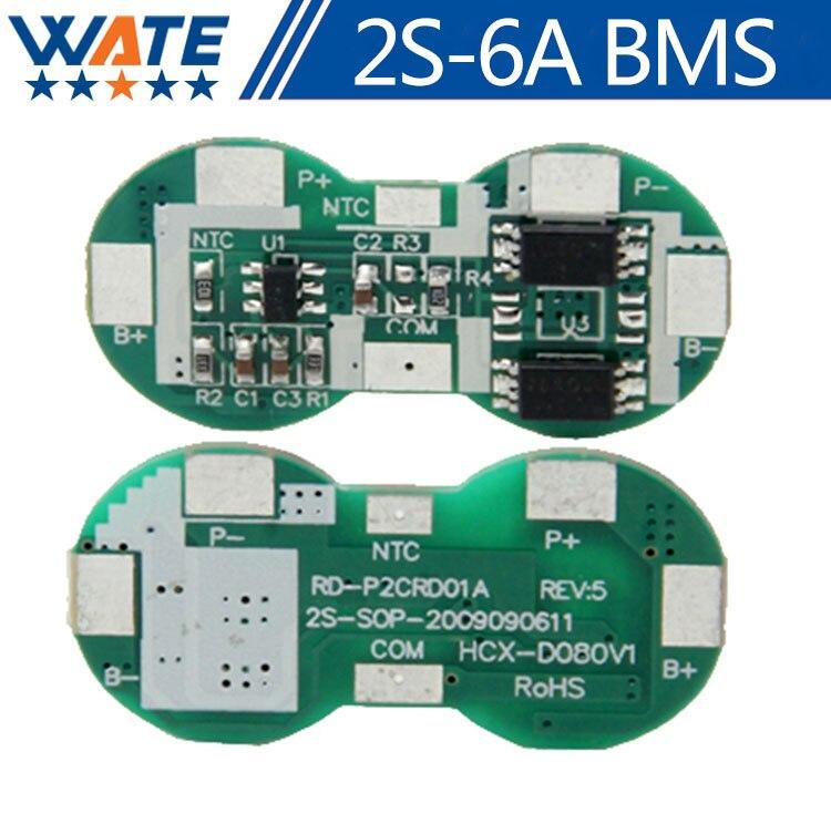 10 шт./лот 2 S 6A Li-Ion 8.4 В 18650 DIY BMS PCM защиты аккумулятора доска BMS PCM для литий-ионный <font><b>lipo</b></font> батарея пакет