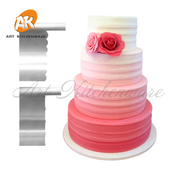 2pcs Sawtooth Stripe Butter Cream Smoother Fondant Cake Smoother ...