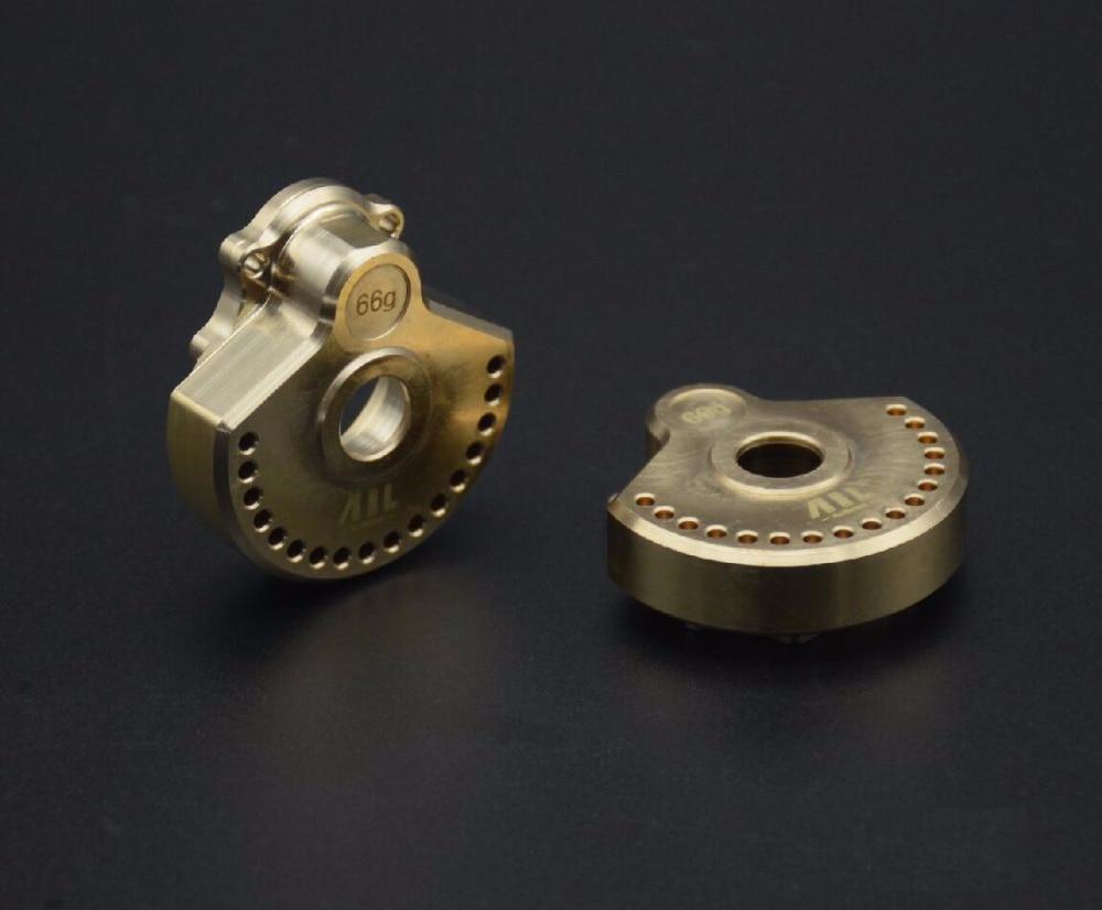 Livraison gratuite poids de l'essieu de roue en laiton robuste pour RC 1/10 Traxxas Trx-4 TRX-4 (ail) pièce de mise à niveau voiture