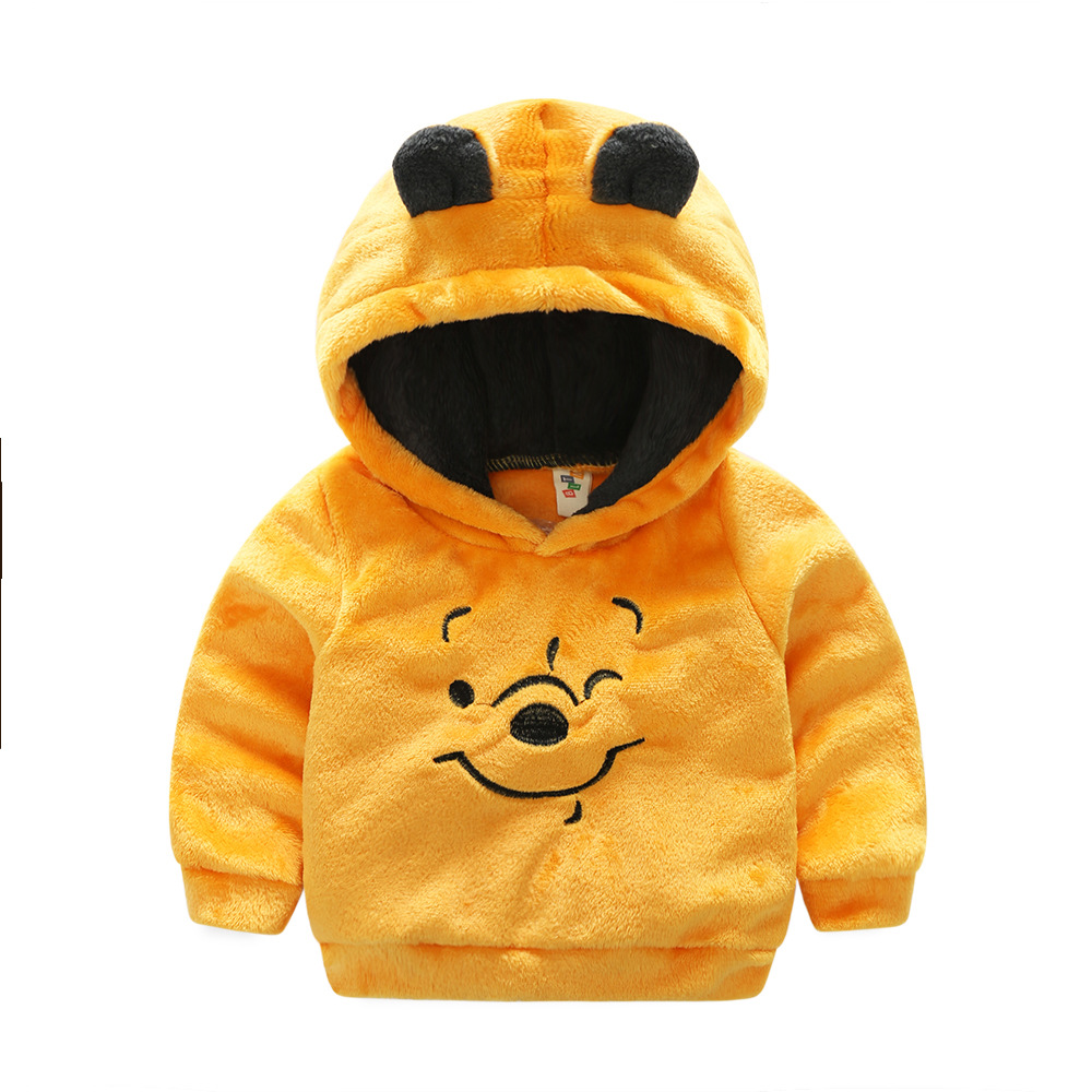 2018 New Fashion Girls Boys Cartoon Fleece Jacket Children Outerwear Coats Baby Sport Suit Kids Hoodies Jacket Winter Jacket Boy