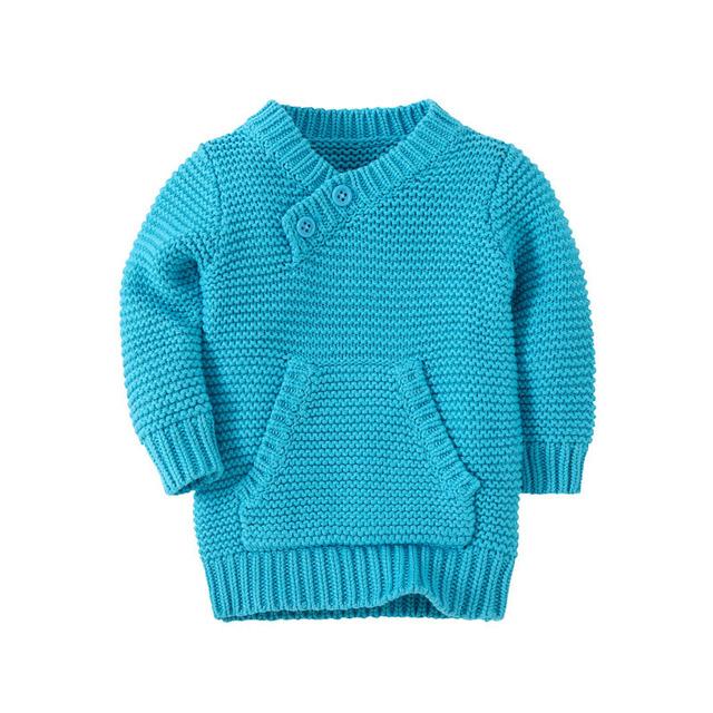 Venda quente Nova Marca de Inverno Do Bebê Meninas Meninos Camisola Crianças Roupas de Algodão Crianças Camisola Quente para Meninas Meninos Malhas WJ0386