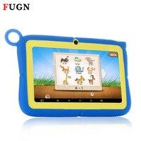 FUGN 7 pouce Comprimés Originaux pour Enfants Bébé Dessin Tabelt PC Quad Core 8 GB ROM 16 GB Carte avec la Bande Dessinée De Silicium Cas 8 9.7 «
