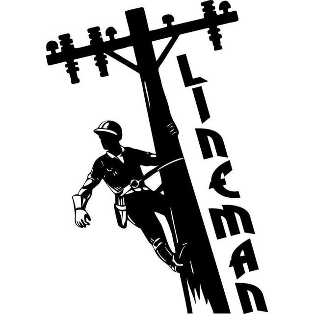 11.1cm*15.8cm LINEMAN Electrician Wireman Journeyman