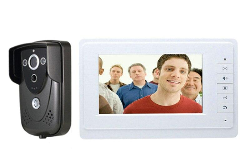 7 Inch TFT Monitor Rain-Proof Camera Wired Intercom Video Door Phone 819-FC
