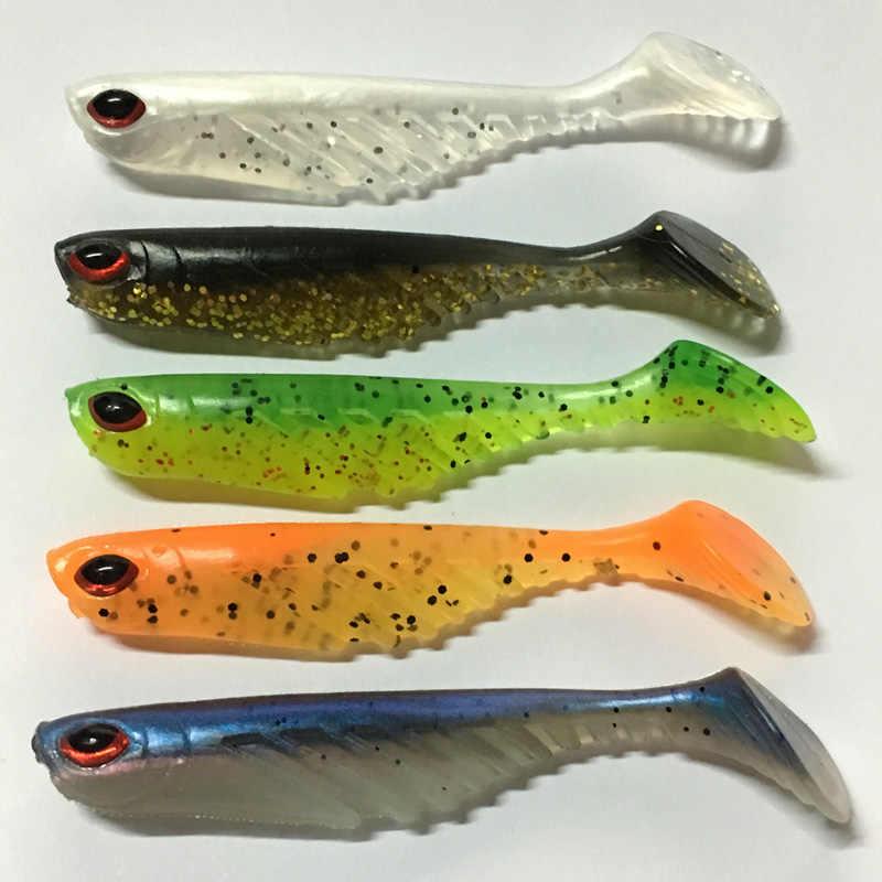 1 ชิ้น Jig Head เหยื่ออ่อน 7 เซนติเมตร 2.8 กรัมเหยื่อตกปลาประดิษฐ์ Belly เปิด Paddle Tail Swimbait Bass minnow ยางปลา