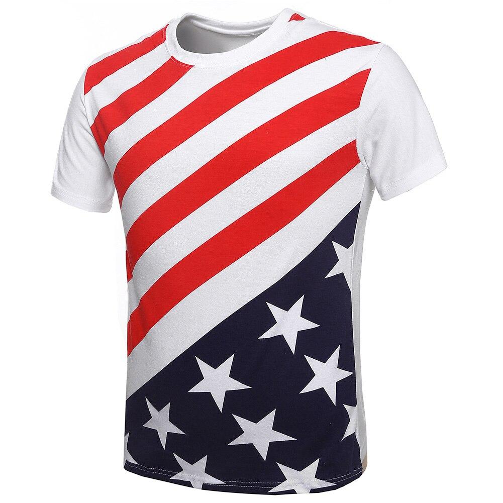 Design t shirt online usa - New Arrival T Shirt Men Summer Casual Clothing Short Sleeve Cotton T Shirt High Quality Man T Shirts Usa Flag Fashion Design