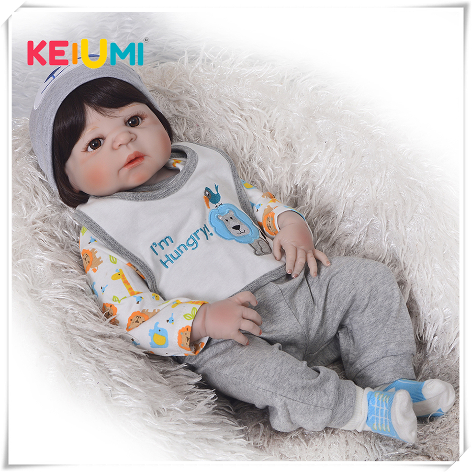 Realistic Boy Bonecas Reborn Babies Dolls For Sale Fashion Full Silicone Vinyl Baby Doll 23 inch