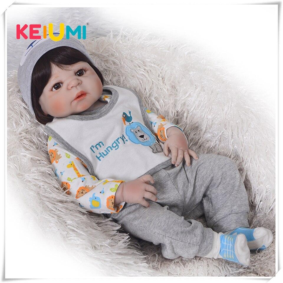 Realista menino bonecas reborn bebês bonecas para venda moda completa silicone vinil bebê boneca 23 polegada vestir roupas bebe presente de aniversário