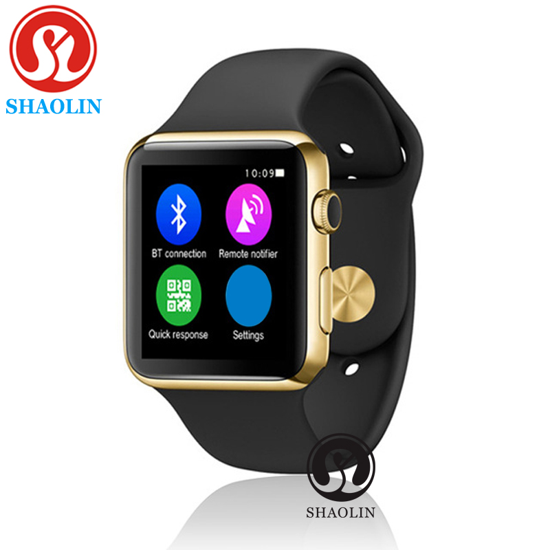 SHAOLIN Bluetooth Smart Watch update 42MM SmartWatch case for apple iPhone Android Smart phone like apple watch 2016 update gv08 smart watch 15 inch 2mp