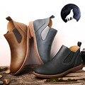 Размер США Новый Кожаный Скольжения На Мужские Оксфорд Ботильоны Случайные Зимняя Обувь