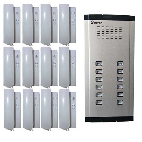 SMTVDP Home Security Direct Press Key Audio Door Phone for 12 apartments, 2-wired audio intercom system in stock