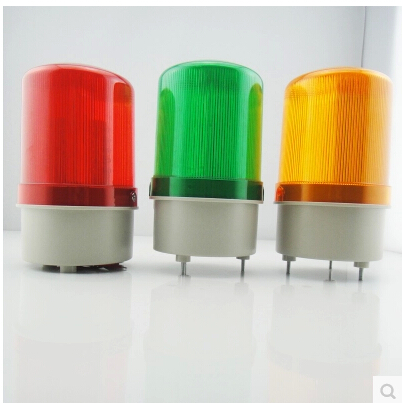1Pcs LED AC220V Red Yellow Green Blue Rotating Beacon Warning Light Lamp Spiral Fixed LTE-1101