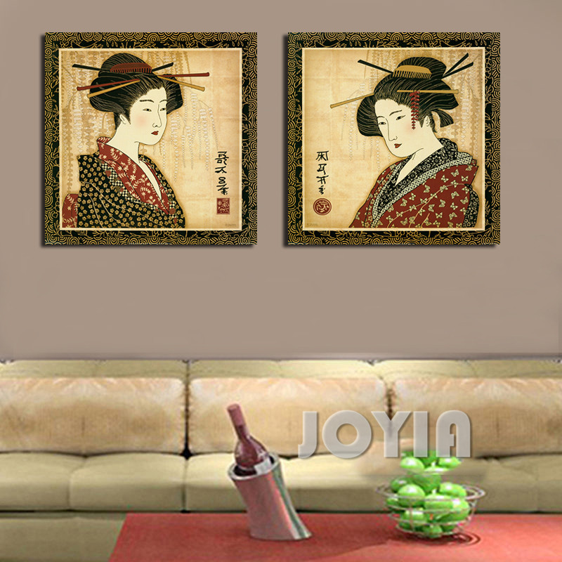 Classical japanese painting wall decor prints pictures for Classical mural