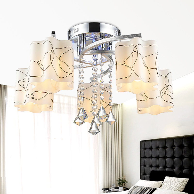 Remote control Modern ceiling lights for living room Bedroom hallway home ceiling lamp acrylic iron body LED ceiling Lamp