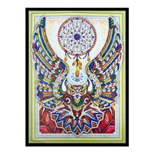 5D DIY Diamond Painted Owl Horse Special Cross Stitch Crystal Mosaic