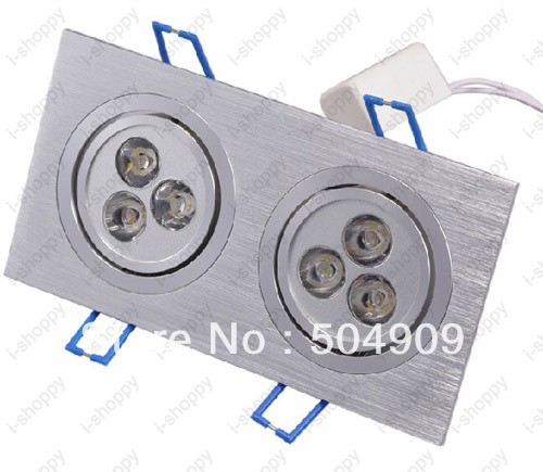 6w 2 3w 6 led two head recessed ceiling down cabinet light fixture