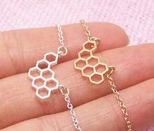 1PCS- B024 Fashion Cute Honeycomb Bracelet Beehive Bracelet Honey Bee Comb Hive Bracelet Hexagon Bracelet 10pcs b024 fashion cute honeycomb bracelet beehive bracelet honey bee comb hive bracelet hexagon bracelet