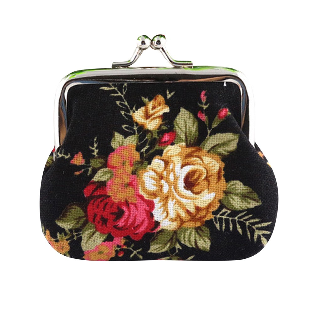 Hot Women Cute Coin Purse Retro Vintage Flower Canvas Small Wallet Girls Change Pocket Pouch Hasp Keys Bag Metal Bar Opening New atx 80plus efficiency 500w power gold power 12v sata port connectors 12cm fan high quality computer power supply for btc