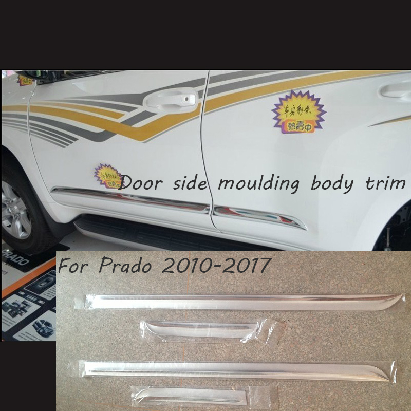 Chrome Door Body Side Trim Cover Molding Car Styling Accessories FOR Toyota Prado J150 2014 2015 2016 2017 150 Land Cruiser caline cp 29 guitar effect pedal mixing boost white heat true bypass design