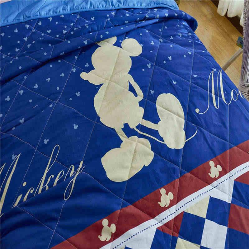 Disney Autentico Del Fumetto Blu Minnie Mickey Del Mouse Coperta di Cotone Morbido Coperte e Plaid per le Ragazze Dei Bambini sul Divano Letto Divano Bambini Regalo
