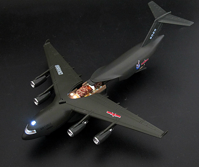 DYD Transport plane Aircraft model of children 's airplane toy simulation alloy model military model action toys