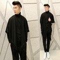 2017 новая волна мужской Корейской моды личности Футболка с длинными рукавами Футболки парикмахер кисточкой прилив мужской футболка